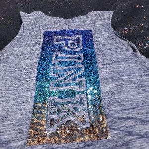 PINK Mermaid Blue/Green/Gold Sequined Tank